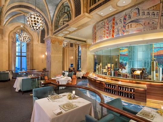Restaurant Mezzaluna de l'Emirates Palace à Abu Dhabi