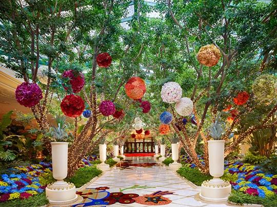 Le magnifique jardin verdoyant de l'Encore at Wynn Las Vegas