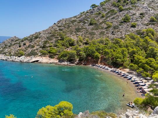 La plage de Bisti à Hydra