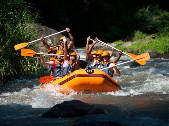 Une aventure tonifiante vous attend sur les eaux vives de la rivière Ayung