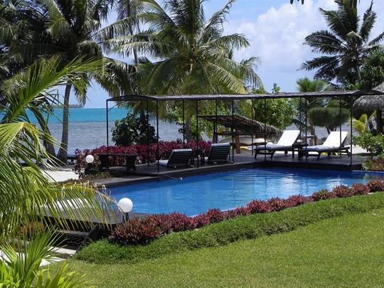 La piscine du Fare Pea situé en Polynésie