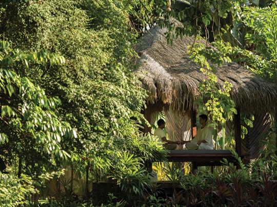 Espace de relaxation du Four Seasons Langkrawi en Malaisie