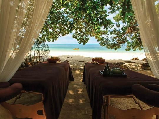 Le spa de l'hôtel 5 étoiles Four Seasons Koh Samui