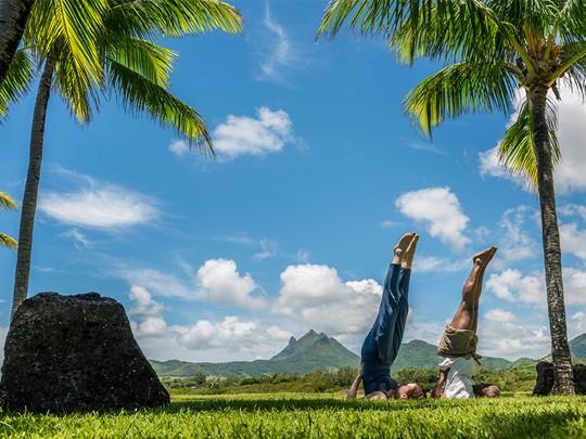Yoga au Four Seasons Resort à l'Ile Maurice