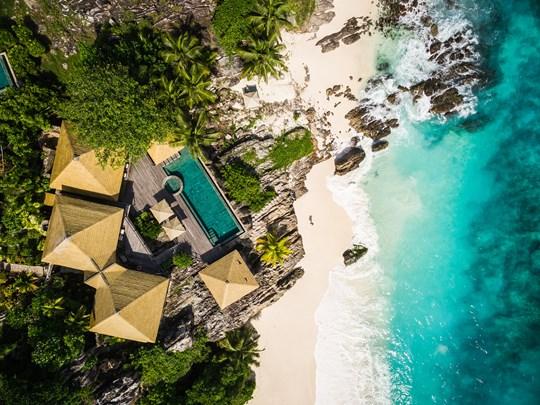Vue aérienne de la magnifique Private Pool Twin/Spa Villa