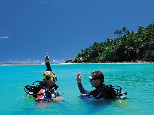 Plongée à l'hôtel Fregate Island aux Seychelles