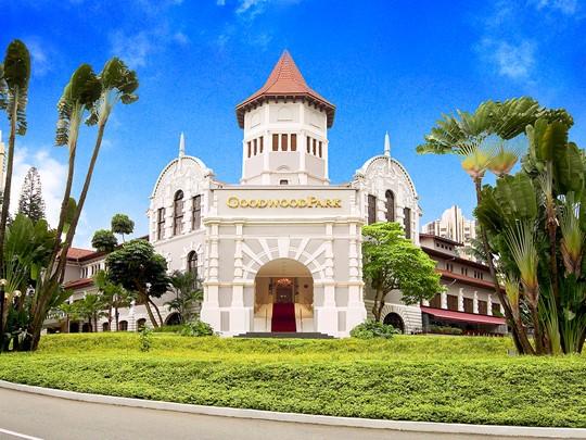 Vue du Goodwood Park, l'une des adresses les plus prestigieuses d'Asie