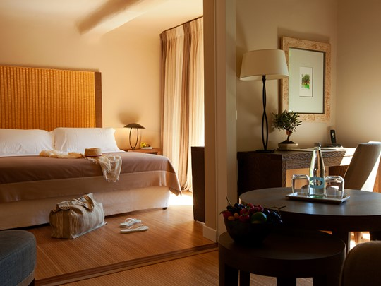 Junior Suite du Grand Hôtel de Cala Rossa en Corse