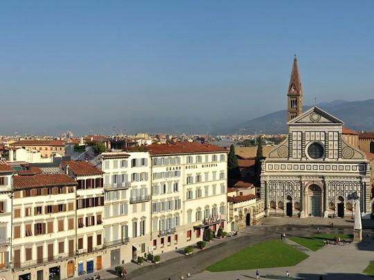 Vue du Grand Hotel Minerva situé au coeur de Florence