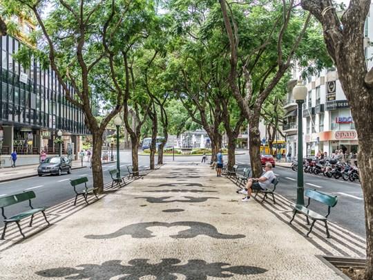 Empruntez l'avenue Arriaga avec sa grande esplanade pavée de calçada typique qui accueille de nombreux événements