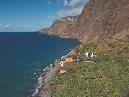 Un domaine agricole et viticole, lové au creux d'une falaise