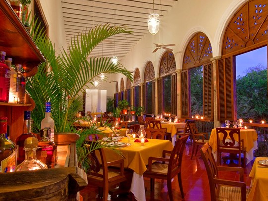 Cuisine régionale et internationale au restaurant Caza Temozon de l'Hacienda Temozon