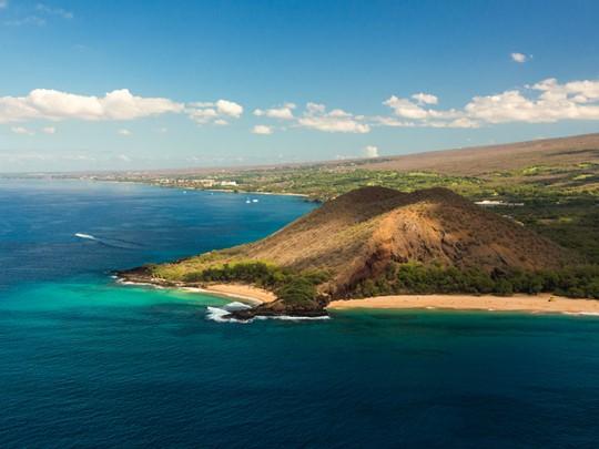 La superbe côte sud de Maui, Wailea