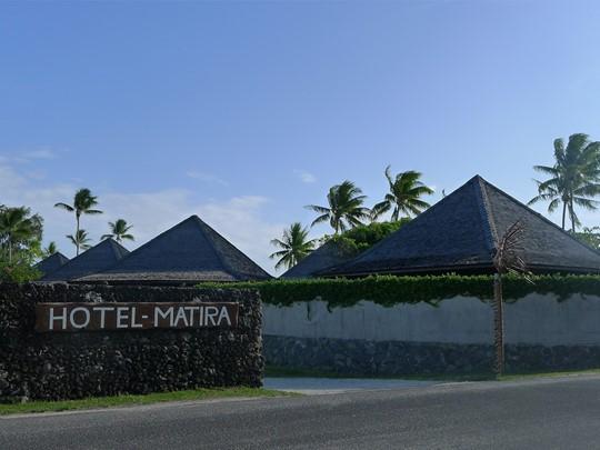 L'entrée de l'hôtel Matira