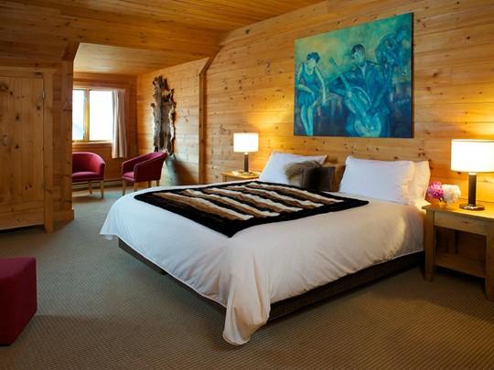 Suite Exécutive de l'hôtel Sacacomie au Canada