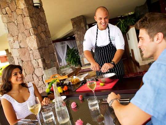 Expérience culinaire unique au Jade Mountain aux Antilles