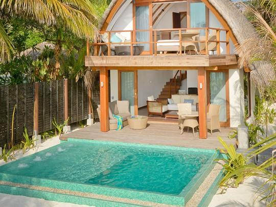 Vue éxterieure de la Duplex Pool Villa