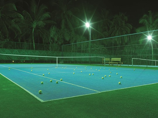 Le court de tennis