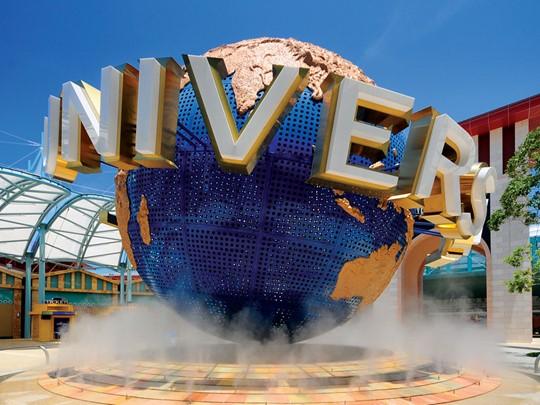 Le parc d'attraction Universal Studio à Singapour