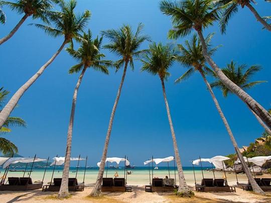 La plage de Sairee devant le Koh Tao Cabana en Thaïlande