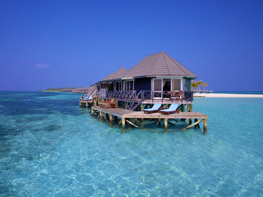 Vue de la Sangu Water Villa