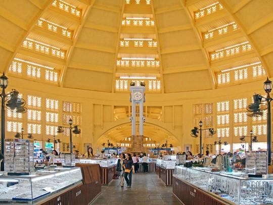 La marché central de Phnom Penh