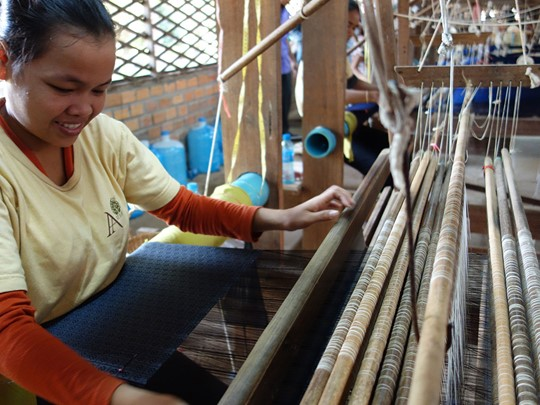 Visite de l'organisation Golden Silk au Cambodge
