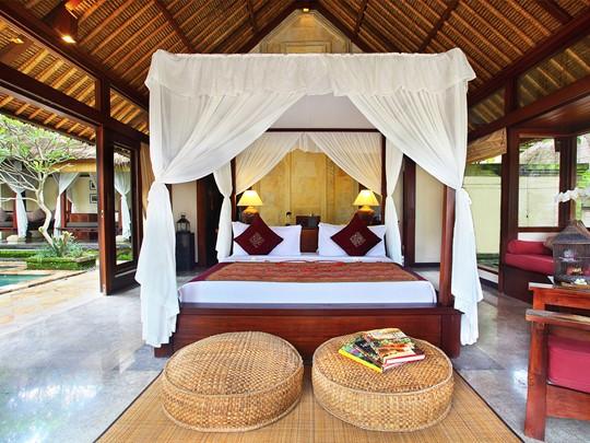 Les villas de l'Ubud Village Resort sont décorées dans un style balinais romantique et élégant