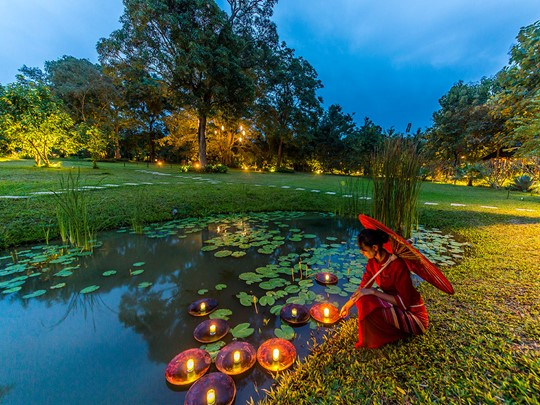 Le jardin exotique de la Villa Inle Resort & Spa
