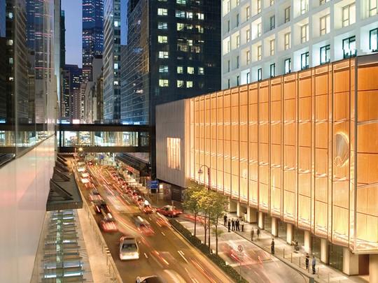 Vue du Landmark Mandarin Oriental, situé au coeur du quartier Central