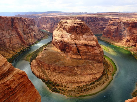 Le site d'Horseshoe Bend, au Lac Powell