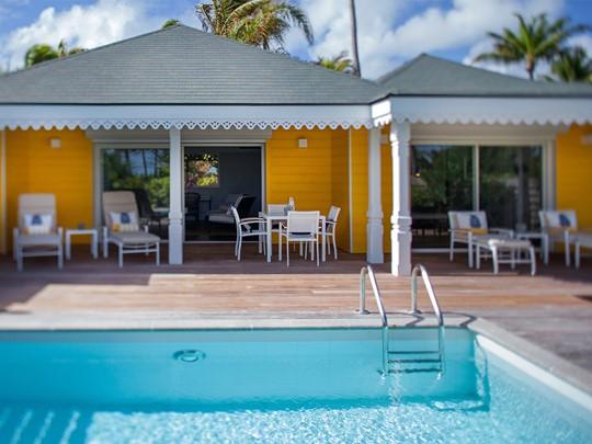 Suite piscine vue mer de l'hôtel Guanahani à St Barth
