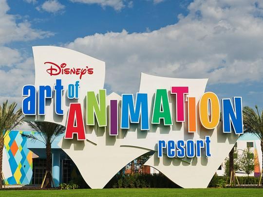 Le Disney's Art of Animation Resort se distingue par sa décoration originale, sur le thème de films Disney
