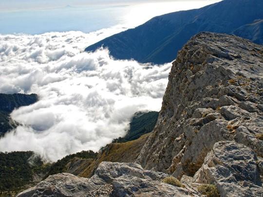 Vue depuis le mythique mont Olympe