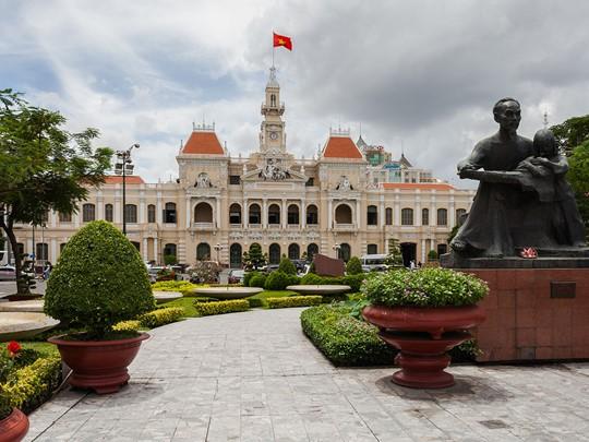 l'Hôtel de Ville de Saigon, un très bel exemple de l'architecture coloniale française