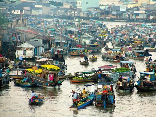 Visitez Cai be et ses marchés flottants