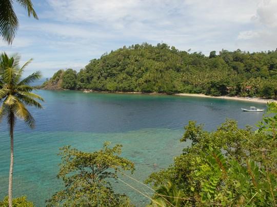 La plage de l'île d'Ambon