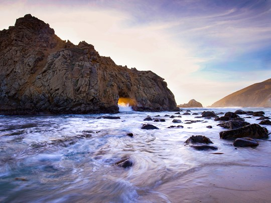 Pfeiffer Beach en Californie