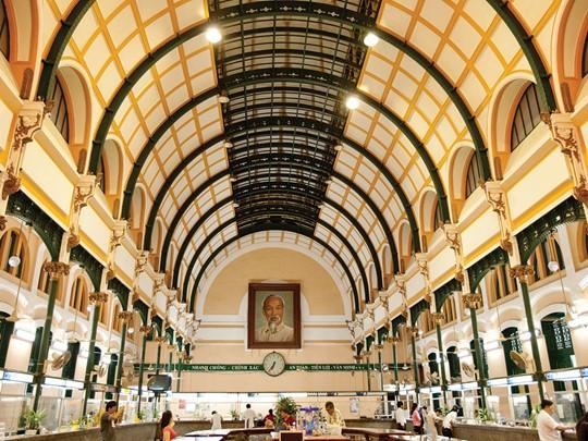 Le bureau de poste datant de l'époque coloniale de Saigon