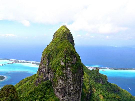 Paysage époustouflant à admirer depus le mont Otemanu à Bora Bora