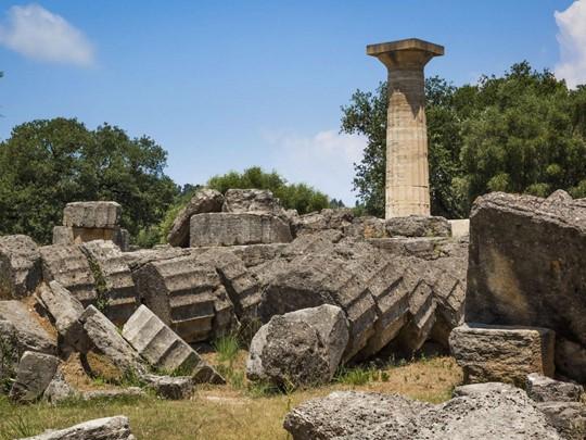 Les ruines d'Olympie