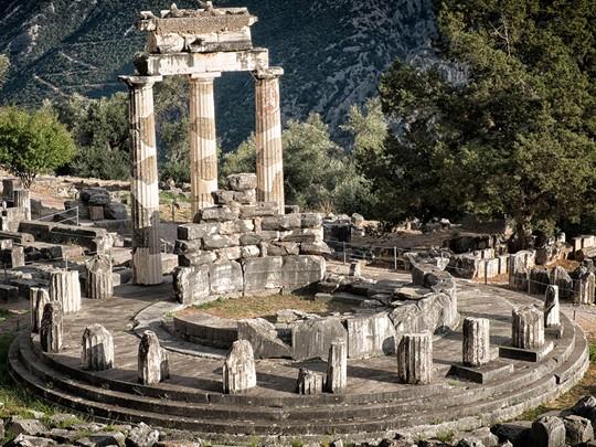 Temple d'Athénas à Delphes