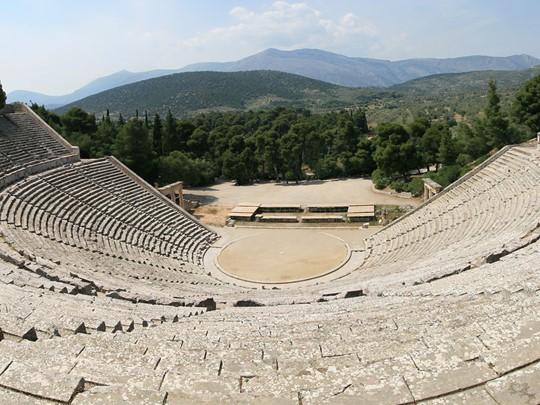 Le célèbre théâtre d'Epidaure