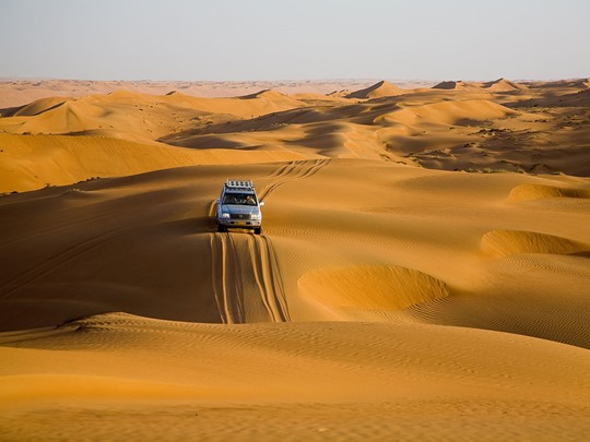 Le désert Wahiba Sands