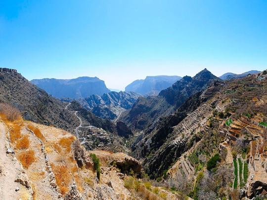 Le Djebel Akhdar, autrement dit la 'montagne verte'