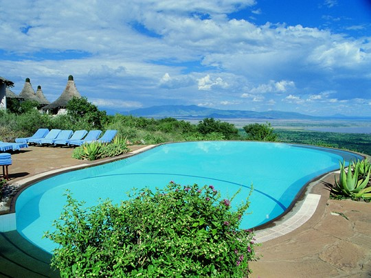 La piscine du Lake Manyara Serena Lodge