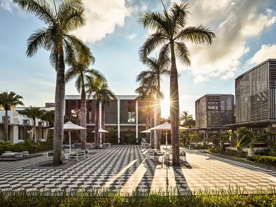 La plaza de l'hôtel
