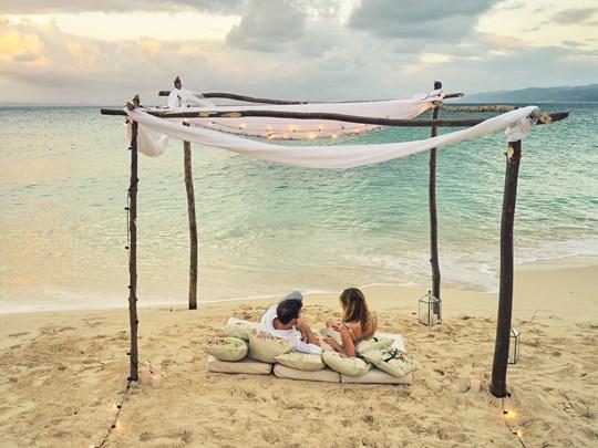 Passez un moment romantique sur la plage