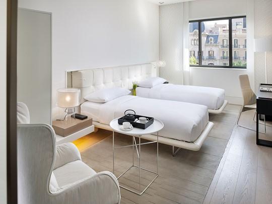 Chambre Deluxe de l'hôtel Mandarin Oriental en Barcelone
