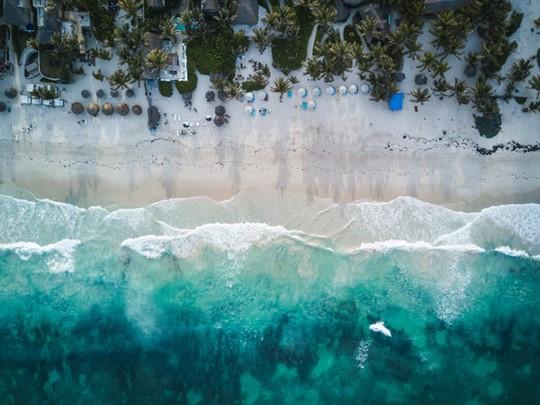 La superbe plage de Tulum